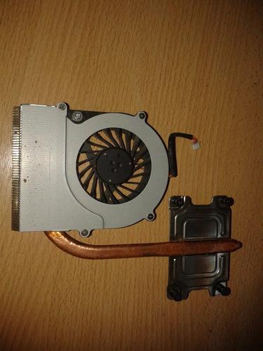 fan cooler + disipador notebook toshiba c645