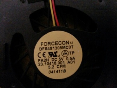 fan cooler forcecon para dell dfs481305mc0t