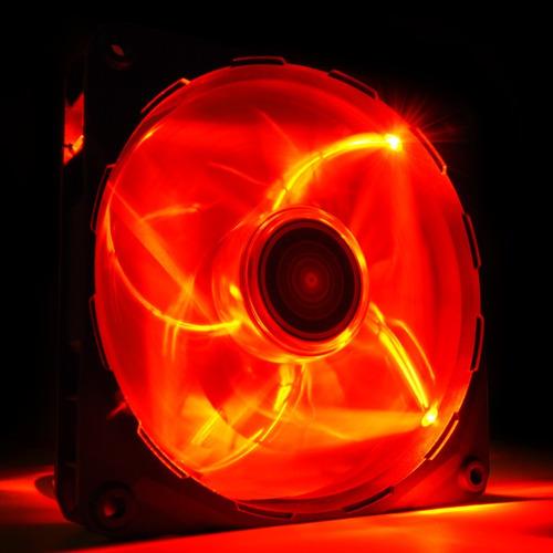 fan cooler nzxt airflow series fz-200 200 red led gtia 24m