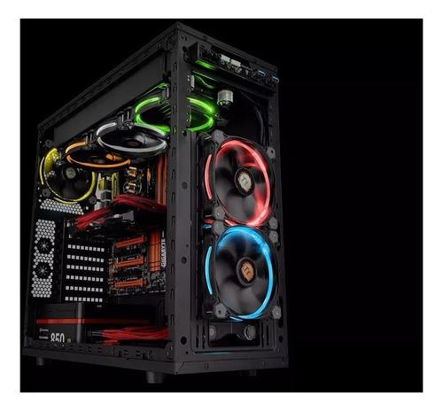 fan cooler thermaltake riing 12 rgb 120mm pack x3 + control