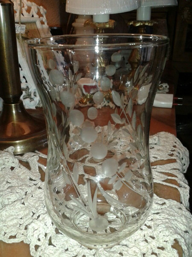 fanal de cristal tallado