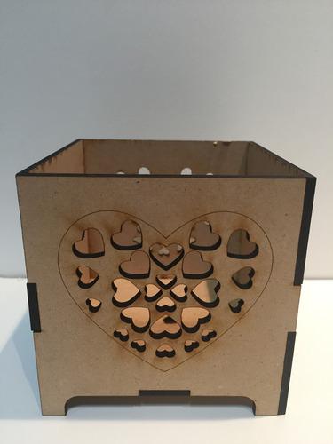 fanal fibrofacil souvenir 10x10 centro de mesa lampara sal