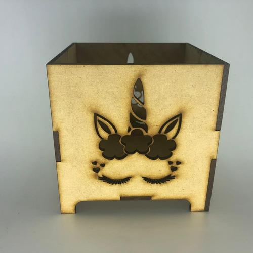 fanal unicornio fibrofacil souvenir 10x10x10 centro de mesa