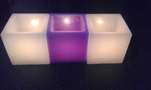 fanales  8x8 con velas led icluida