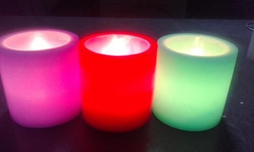 fanales  8x8 con velas led icluida x 10 unidades