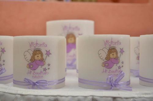 fanales souvenirs personalizados bautismo comunion velas