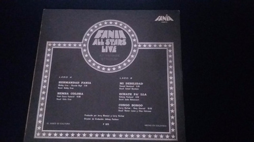 fania all stars live at yankee stadium lp vinilo salsa