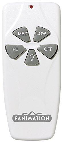 fanimation c4 control remoto ventilador y la luz 3-speed/non