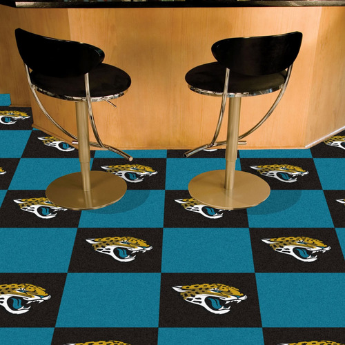 fanmats jacksonville jaguares alfombra tiles 18 -inch-inch x