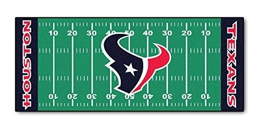 e5346a95 Fanmats Nfl Houston Texans Nylon Face Football Field Runner