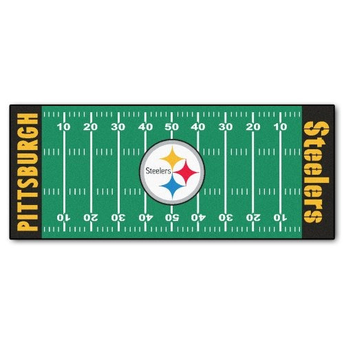 fanmats nfl pittsburgh steelers nylon face campo de fútbol