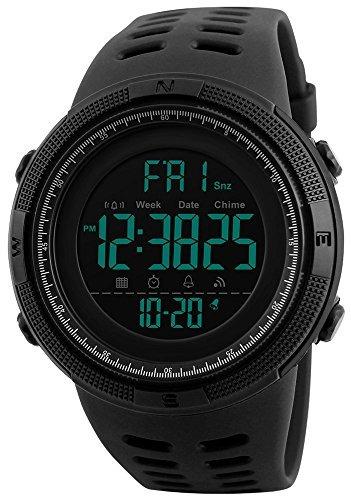 fanmis mens digital led reloj deportivo militar multifunc...