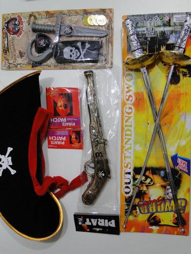 fantasia adulto pirata caribe jack sparrow espada machado