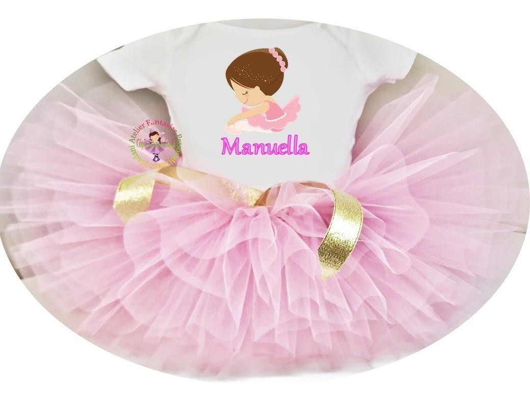 da0db56dd304 Fantasia Aniversário Bailarina Ballet Luxo - R$ 97,26 em Mercado Livre