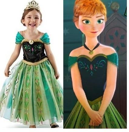 Fantasia Anna Frozen Vestido Anna Verde