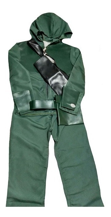 50141474ac Fantasia Arqueiro Verde Deluxe G (8 Anos) - R$ 299,99 em Mercado Livre
