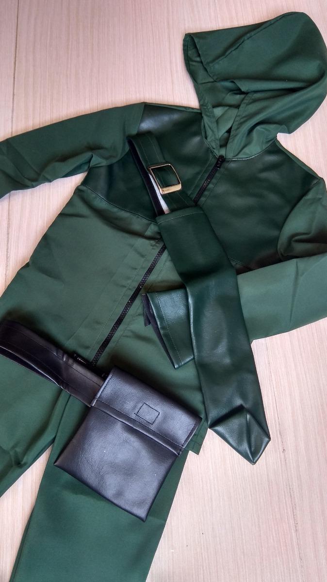 d7ed65ab77 Fantasia Arqueiro Verde Deluxe P (4 A 6 Anos) - R$ 299,99 em Mercado ...