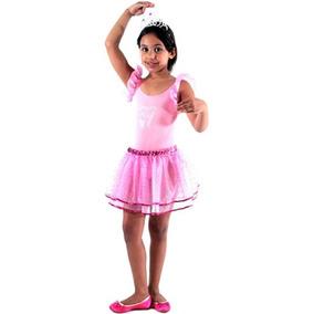 4ea519d343 Fantasia Da Barbie Bailarina Infantil Luxo no Mercado Livre Brasil