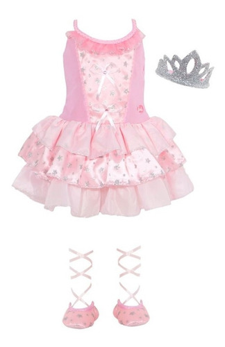 fantasia barbie quero ser bailarina tamanho g sulamericana