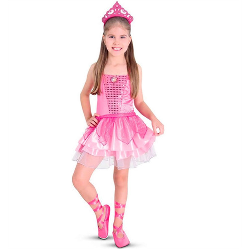 47f9bcff6a Fantasia Barbie Sapatilhas Mágicas Standard Bailarina - R  74