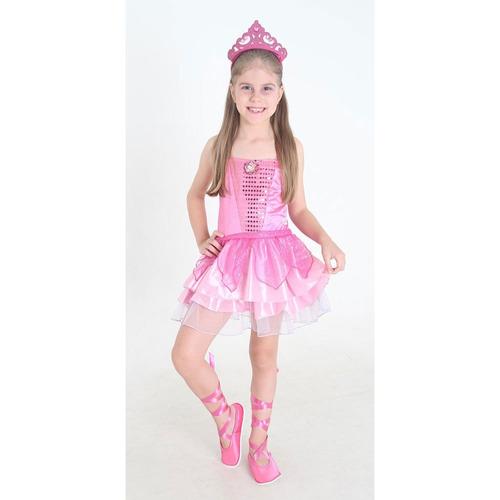 fantasia barbie sapatilhas mágicas standart g - sulamericana