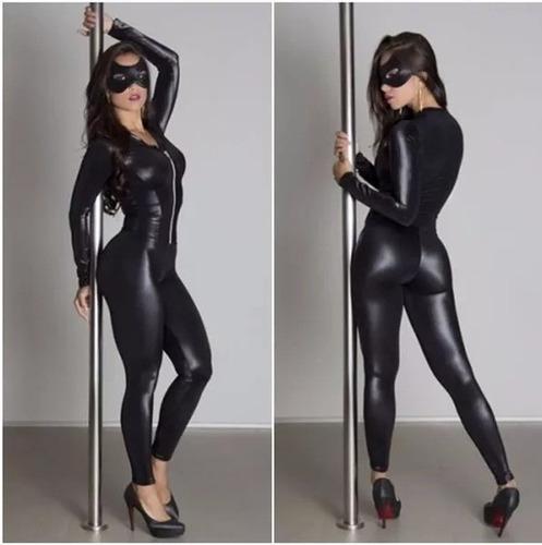 fantasia batman mulher gato festa sexy dominadora