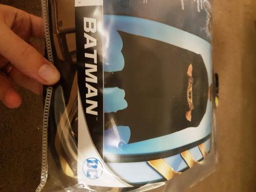 fantasia batman roupa+capa+mascara nova tamanho l 10 a 12
