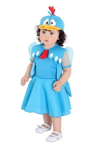 fantasia bebê galinha pintadinha vestido completa sula