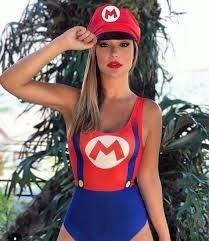 Fantasia Body Feminina Super Mario Bros Carnaval + Saia Tule - R  79 ... 750d75dde33