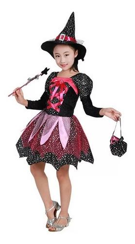 fantasia bruxinha festa aniversário brinquedos halloween t4