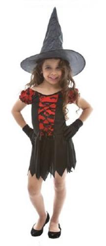 fantasia bruxinha vamp halloween infantil feminino