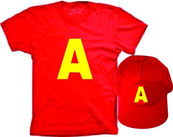 Fantasia Camiseta E Boné Do Alvin E Os Esquilos Aniversario - R  69 ... df1b0846404