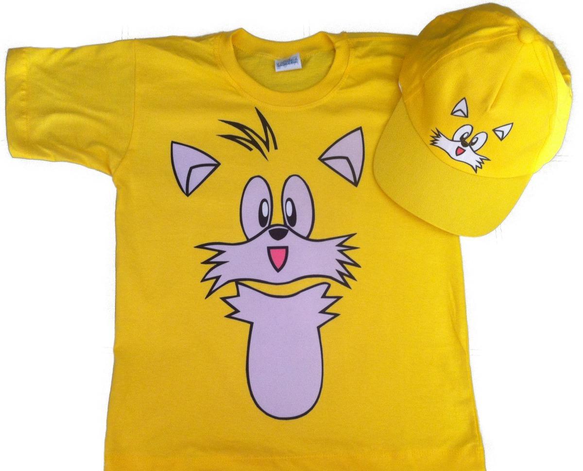 fantasia camiseta sonic tails infantil e boné personalizado. Carregando  zoom. 4d4c4749758