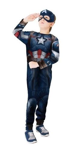 fantasia capitão américa infantil original os vingadores 2