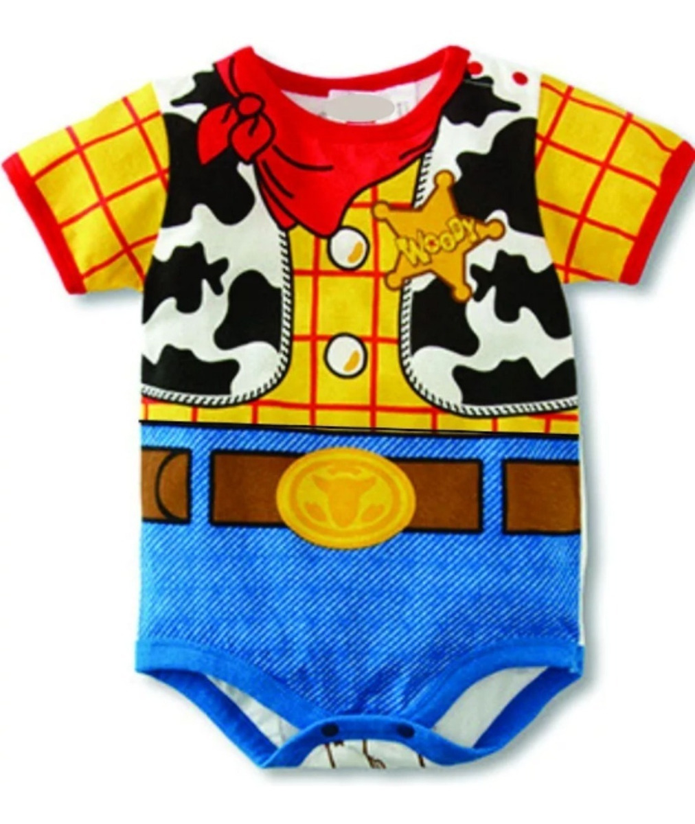 Fantasia Carnaval Body Bebe Desenho Animado Toy Story Woody R