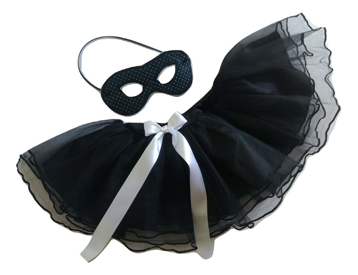 4294718c5 fantasia carnaval criança infantil tutu e máscara preta. Carregando zoom.