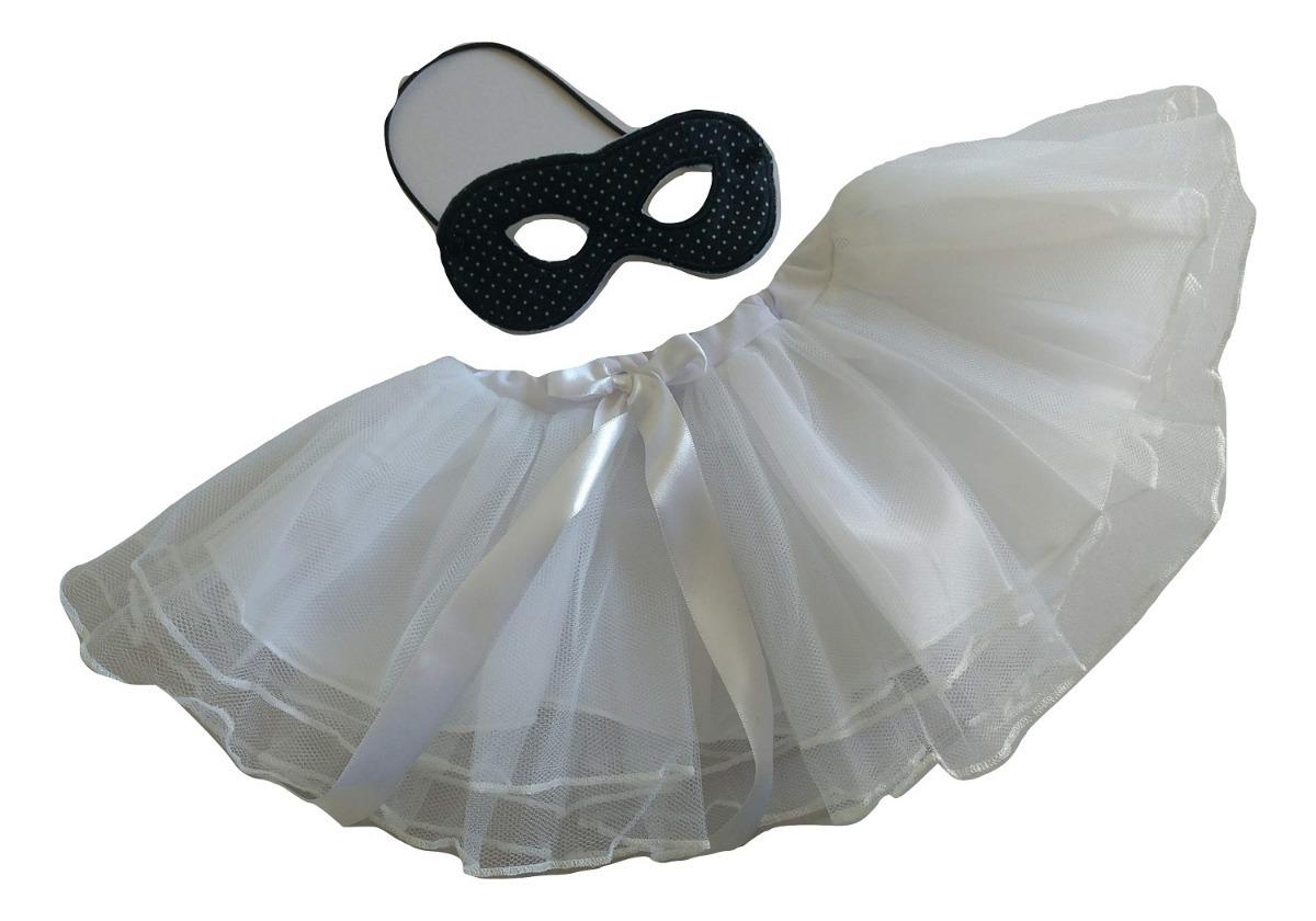 59f51b29d fantasia carnaval criança infantil tutu máscara branco preto. Carregando  zoom.