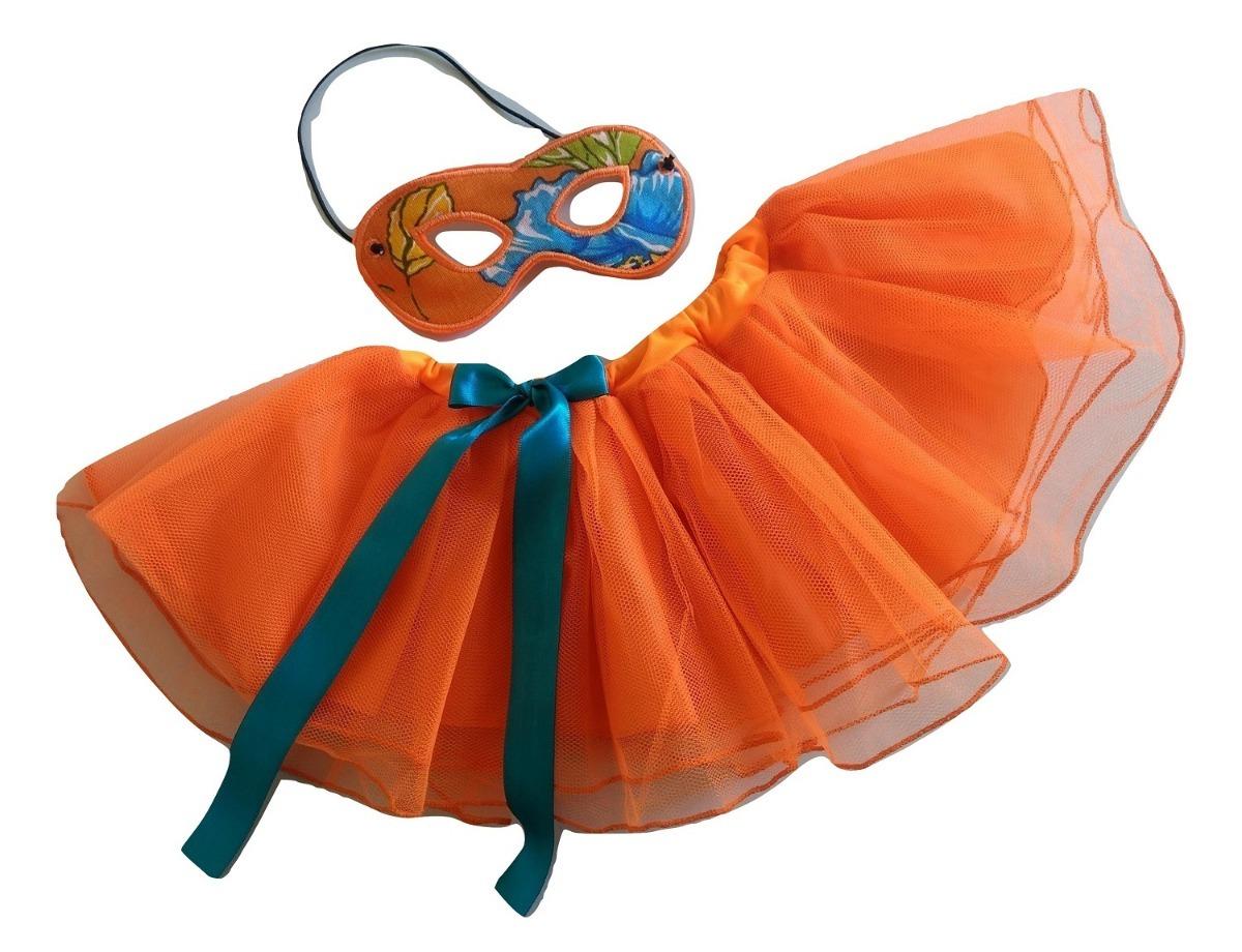 eaea5932e fantasia carnaval laranja criança infantil tutu e máscara. Carregando zoom.