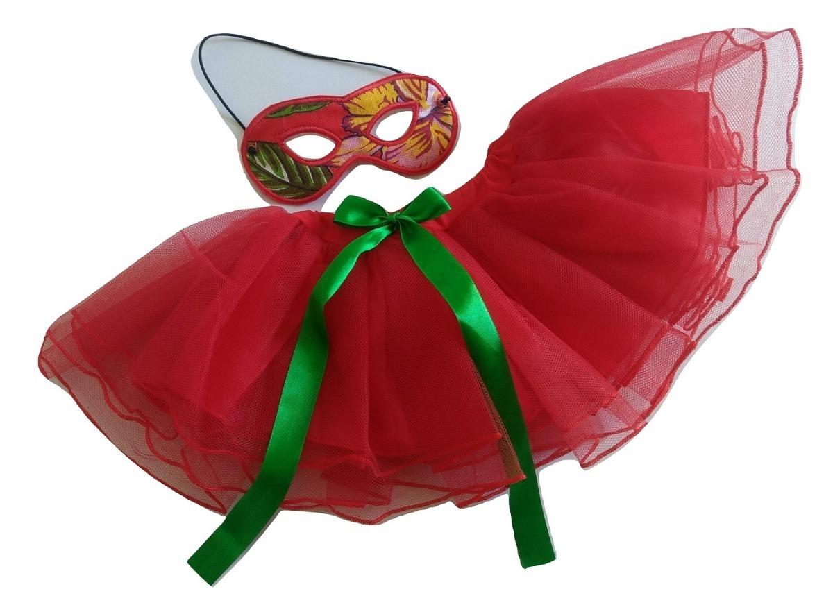 455fe12ef fantasia carnaval vermelha criança infantil tutu e máscara. Carregando zoom.