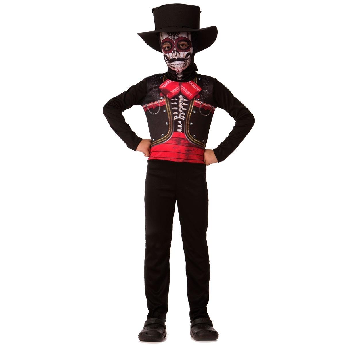 fantasia caveira mexicana criança dia das bruxas halloween. Carregando zoom. af58685bc2e