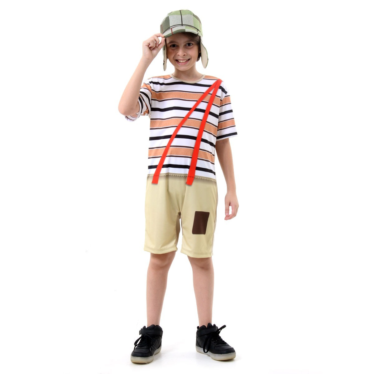 5f56b3ef3 Fantasia Chaves Infantil Curto P M G - R$ 119,49 em Mercado Livre