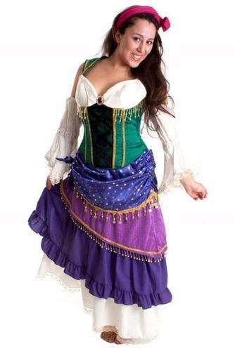 fantasia cigana esmeralda longa com corselet tam p (36 a 38)