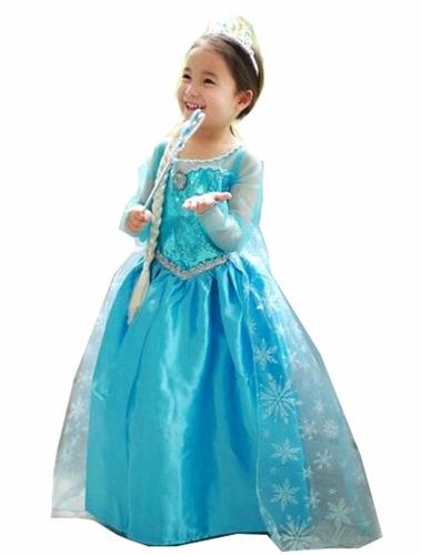 fantasia com acessórios frozen vestido elsa infantil
