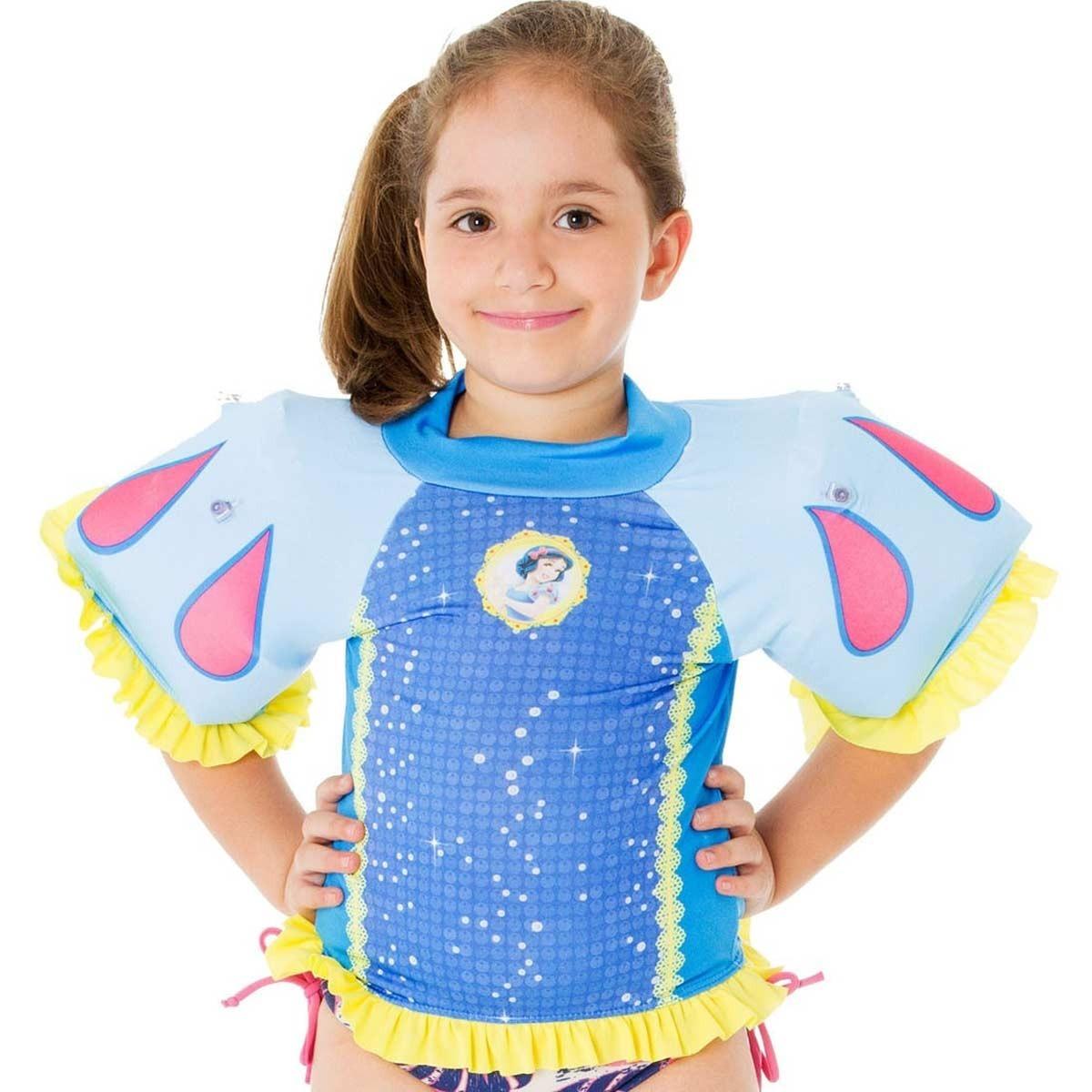 684157eba885d Fantasia Com Proteção Uv Infantil E Boia Da Branca De Neve - R  61,70 em  Mercado Livre