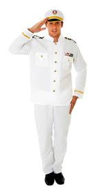 35a3e8664a4b7c Fantasia Comandante Marinheiro Naval Adulto Sulamericana