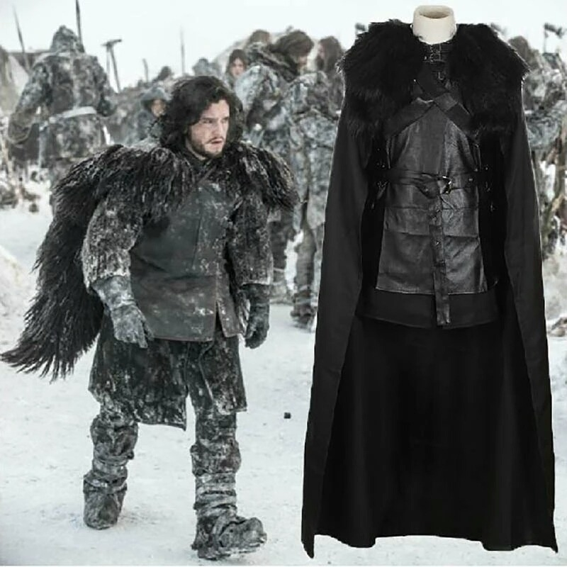 72ab9302e08ca fantasia cosplay jon snow traje neve game of thrones. Carregando zoom.