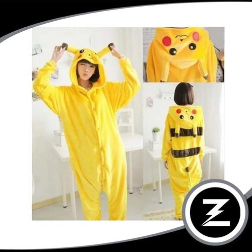 fantasia cosplay picachu fa020 pijama macacão adulto unissex