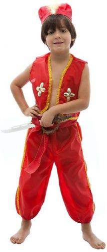 fantasia cosplay príncipe aladdin disney calça infantil