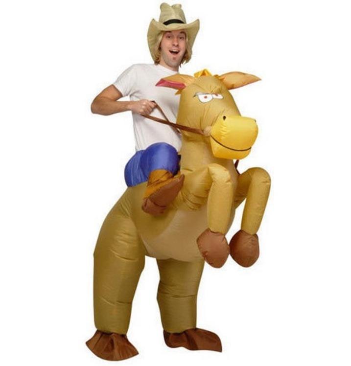 e595af82545d6 Fantasia Cowboy Cavalo Rodeio Inflável Adulto Pronta Entrega - R  199
