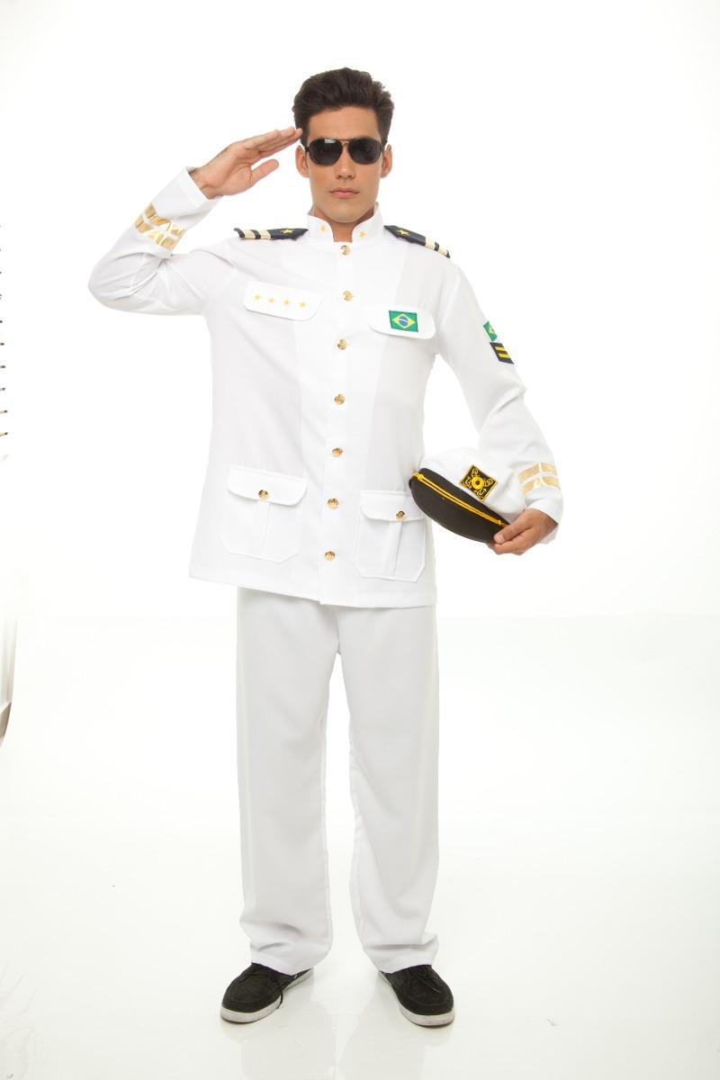 629542dfeb Fantasia De Almirante Da Marinha,marinheiro,capitão,carnaval - R ...